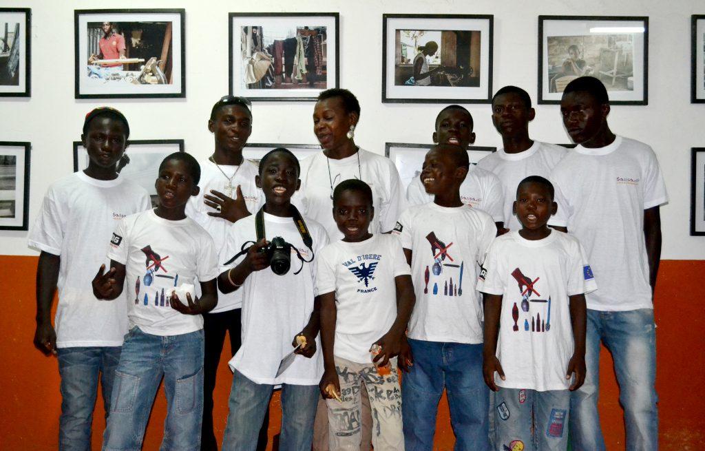 Les enfants en formation à l'espace Jarrot